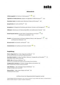 Neue Aktionskarte mit Köstlichkeiten für Euch