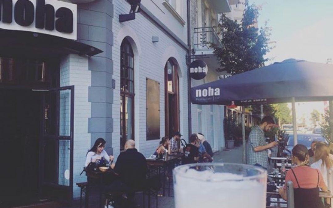 Terrasse und Innenhof sind für Euch wieder geöffnet – noha Düsseldorf Flingern Restaurant / Bar