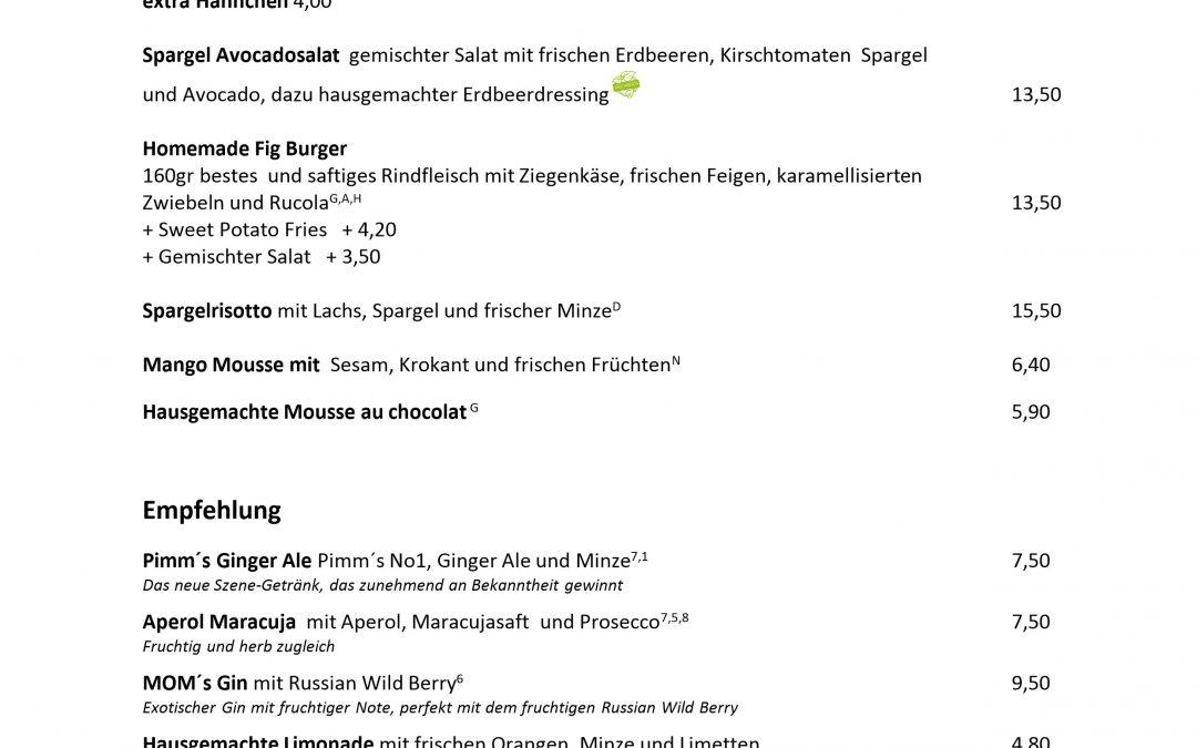 Unsere neue Speisekarte für Juni / Juli – noha Restaurant Düsseldorf / Flingern